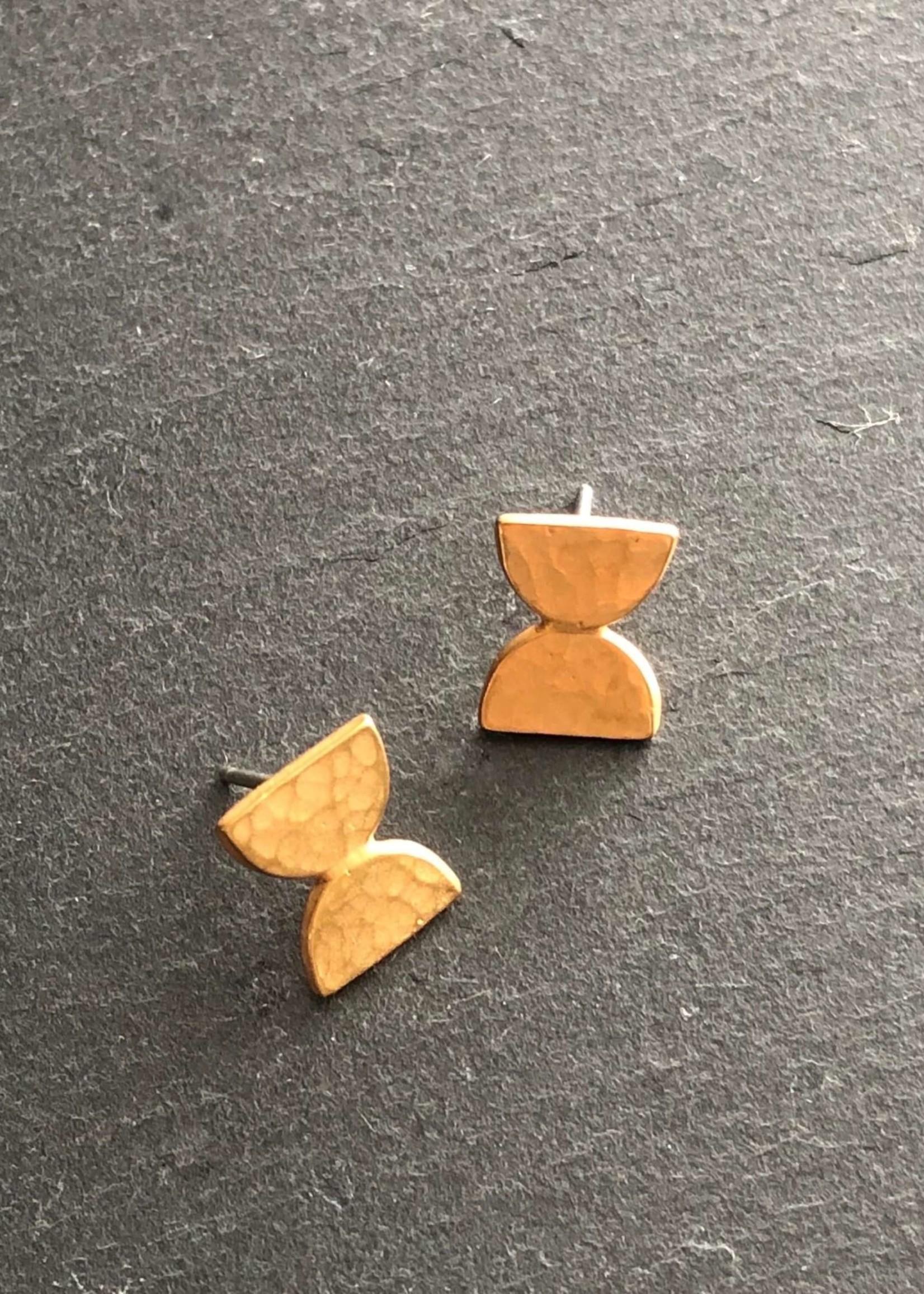 Denise Heffernan Parallel Post Earring 24k Gold Plate Vermiel