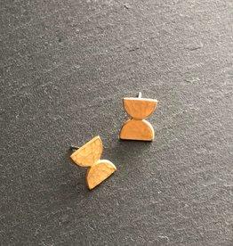 Denise Heffernan Denise Heffernan Dome Post Earring 24k Gold Plate Vermiel