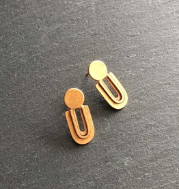Denise Heffernan Denise Heffernan Camber Post Earring 24k Gold Plate Vermiel