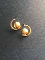 Denise Heffernan Denise Heffernan - Dome Curve Earring 24k Gold Plate Vermiel