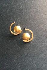 Denise Heffernan Denise Heffernan Dome Curve Earring 24k Gold Plate Vermiel