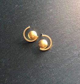 Denise Heffernan Denise Heffernan Dome Curve Earring 24k Gold Plate Vermiel