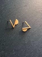 Denise Heffernan Denise Heffernan - Verge Post Earring 24k Gold Plate Vermiel