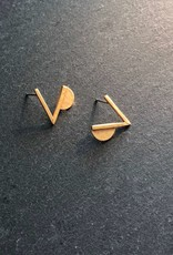 Denise Heffernan Denise Heffernan Verge Post Earring 24k Gold Plate Vermiel