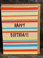 Gold Teeth Brooklyn Gold Teeth Brooklyn - Birthday Stripes Birthday Card
