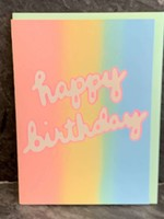 Gold Teeth Brooklyn Gold Teeth Brooklyn - Rainbow Birthday Birthday Card