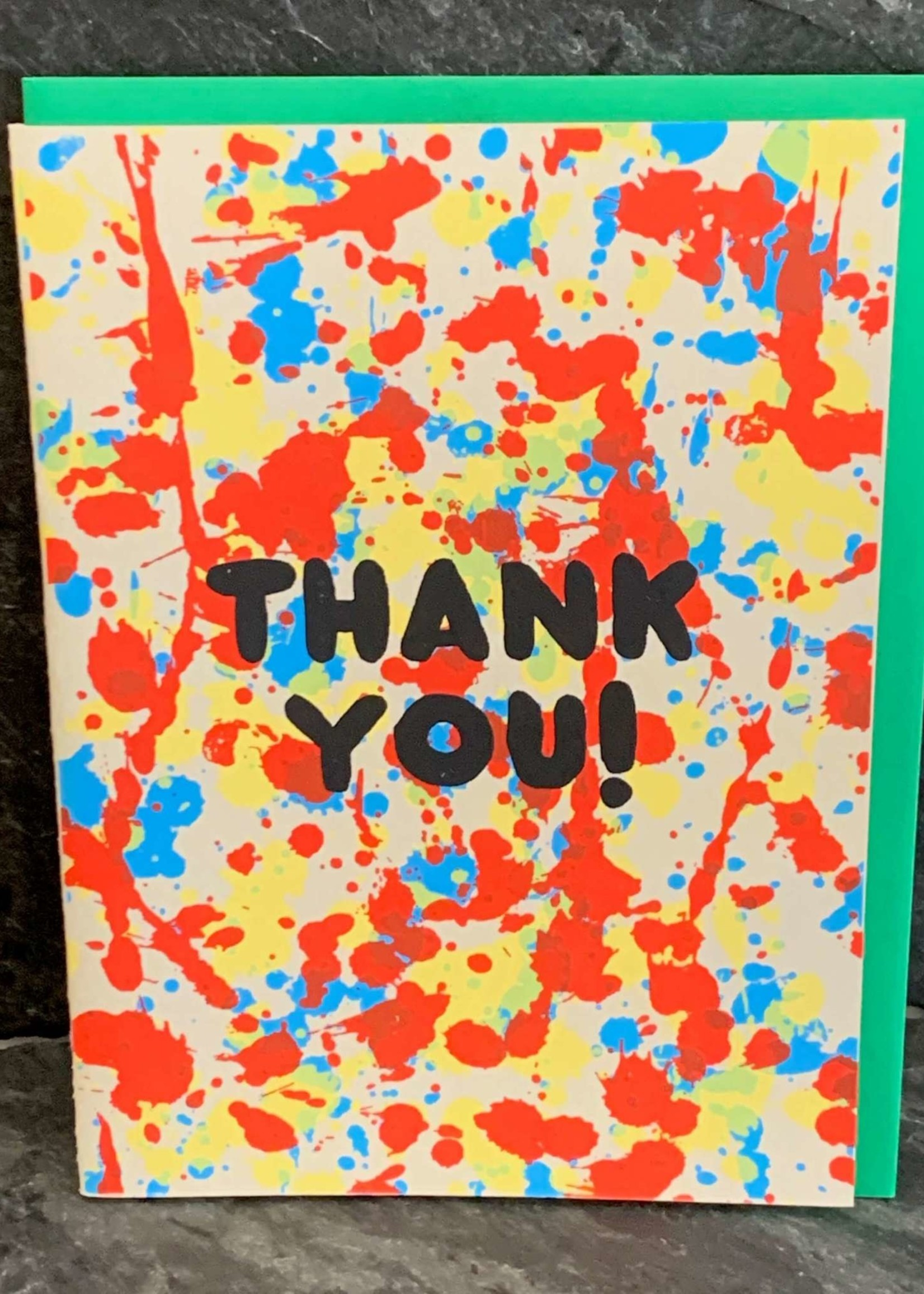 Gold Teeth Brooklyn Thank You Splatter Thank You Card