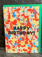 Gold Teeth Brooklyn Gold Teeth Brooklyn - Birthday Splatter Birthday Card