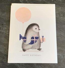 Dear Hancock Dear Hancock - Penguin w/ Wrapped Fish Birthday Card