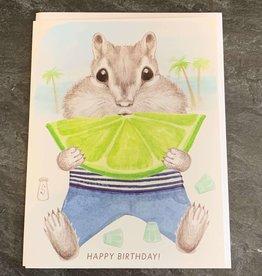 Dear Hancock Birthday Dear Hancock Chipmunk Lime