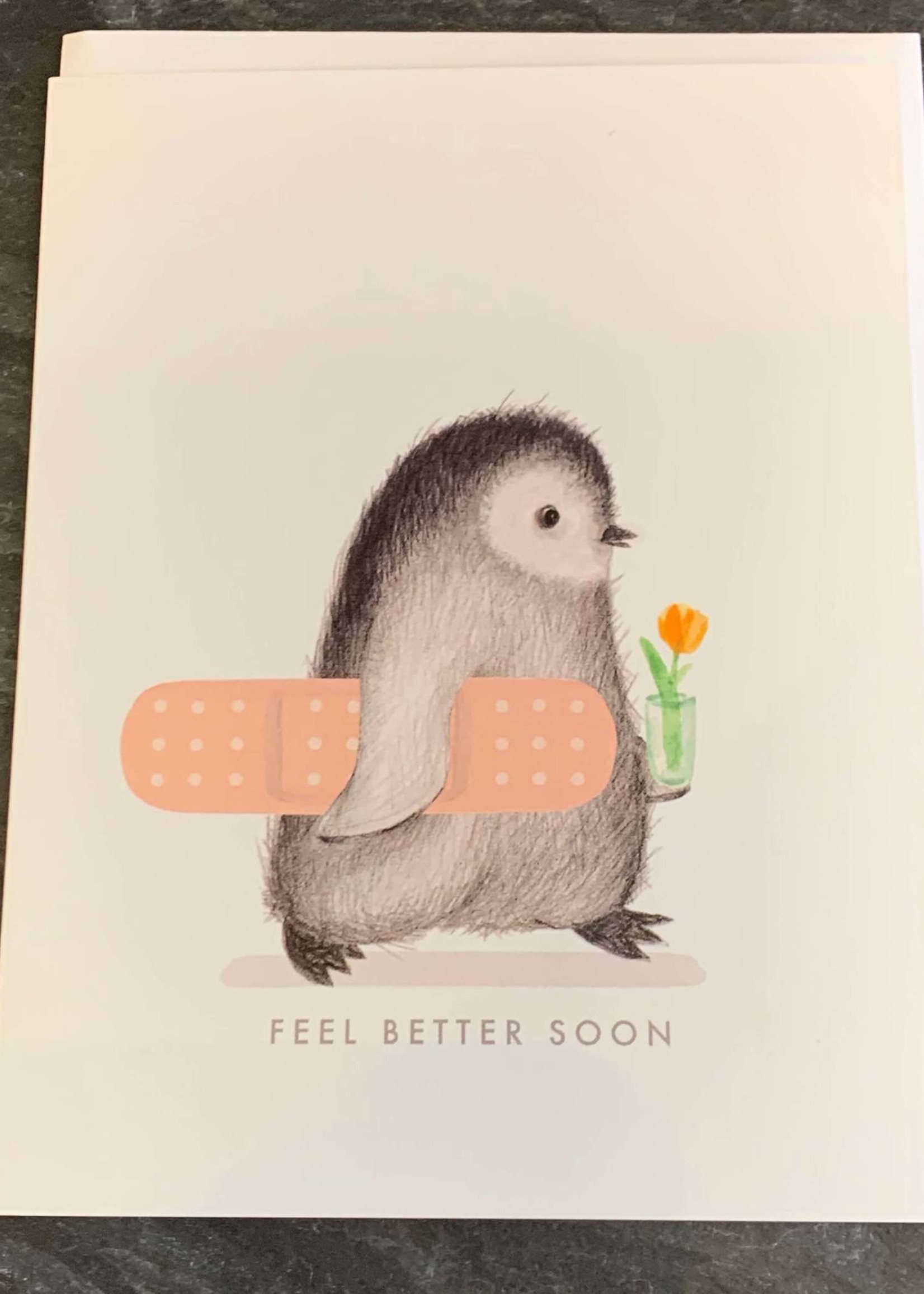 Dear Hancock Feel Better Penguin Get Well Card