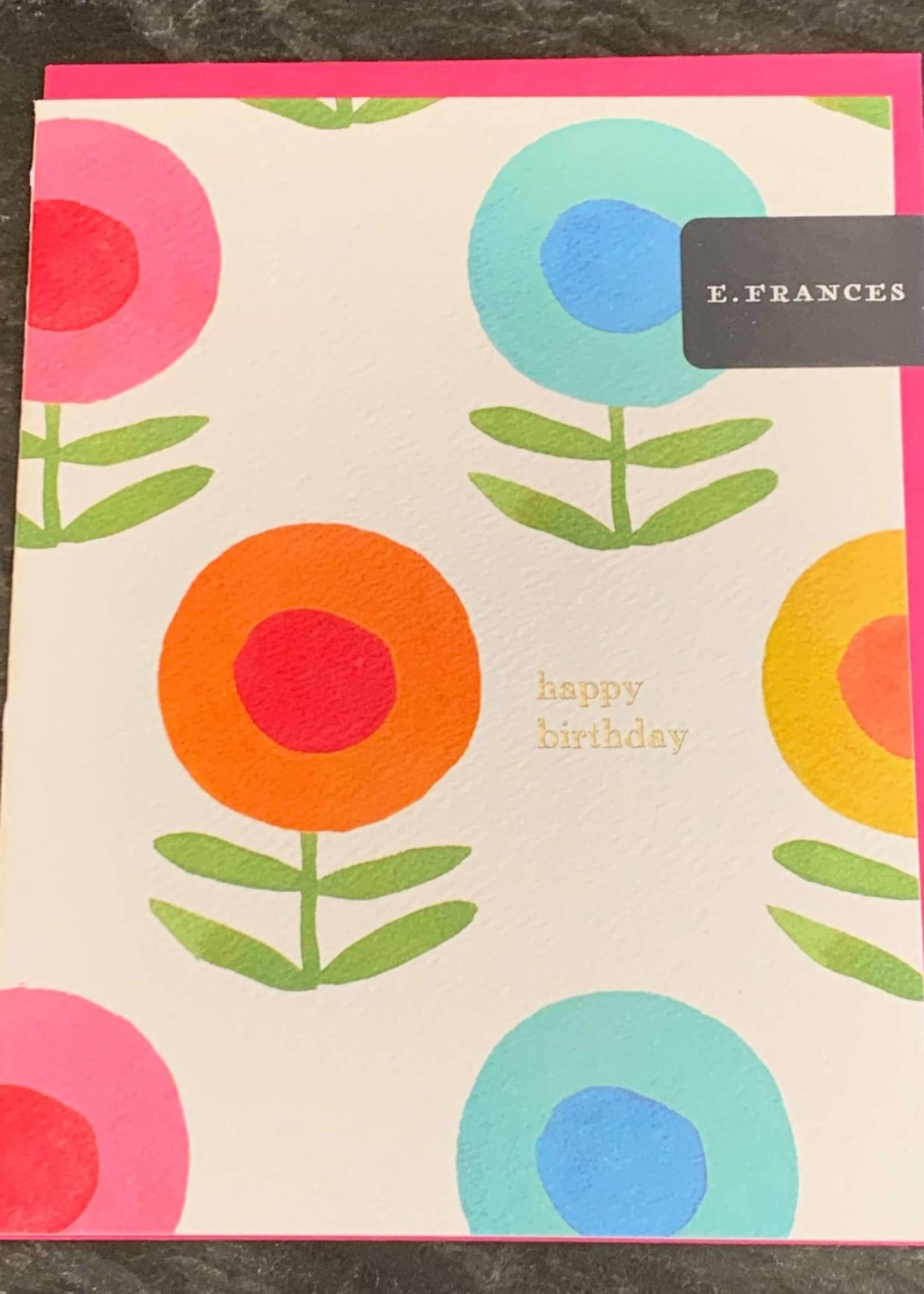 E. Frances Paper E. Frances Happy Flowers Birthday