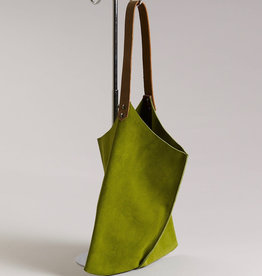 Scabby Robot Scabby Robot Wedge Bag - Fresh Lime Leather