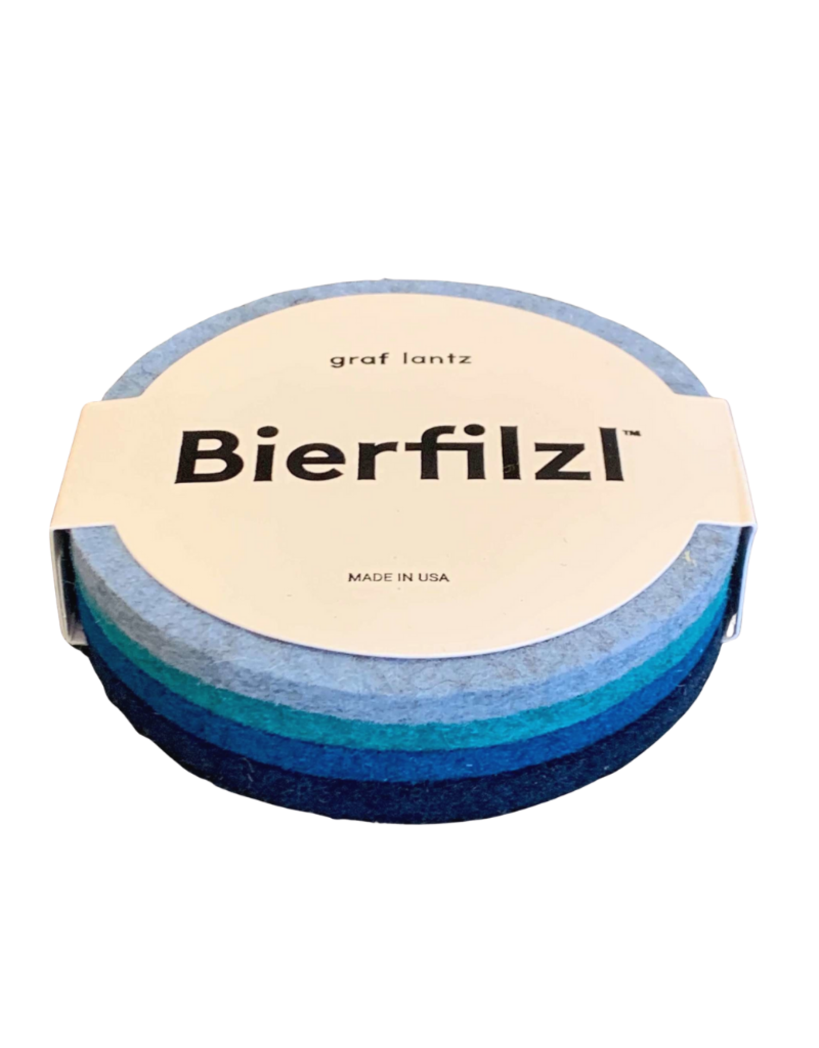 Graf&Lantz Bierfilzl Round Felt Coaster 4 Pack - Ocean