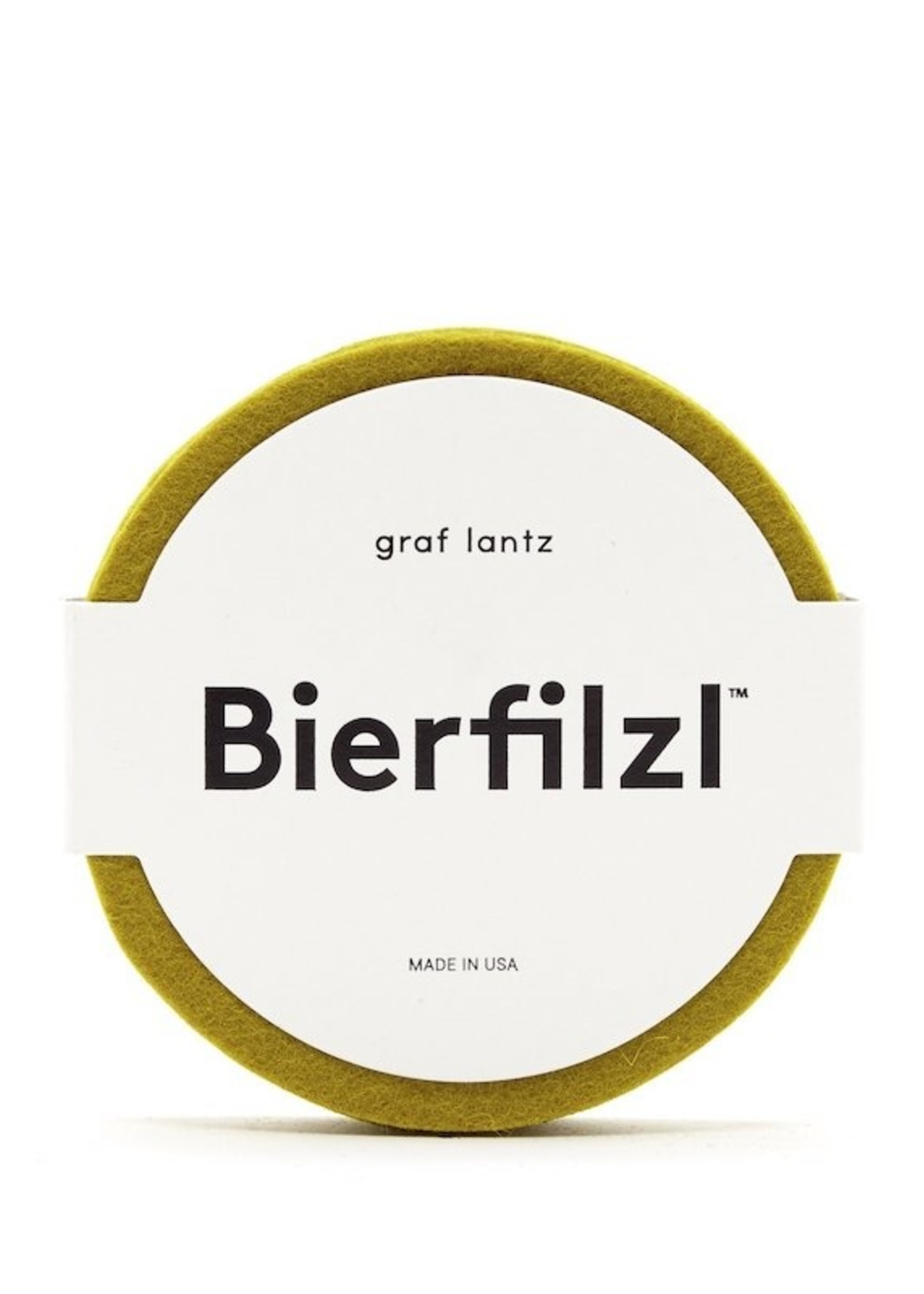 Graf&Lantz Bierfilzl Round Felt Coaster 4 Pack - Electric