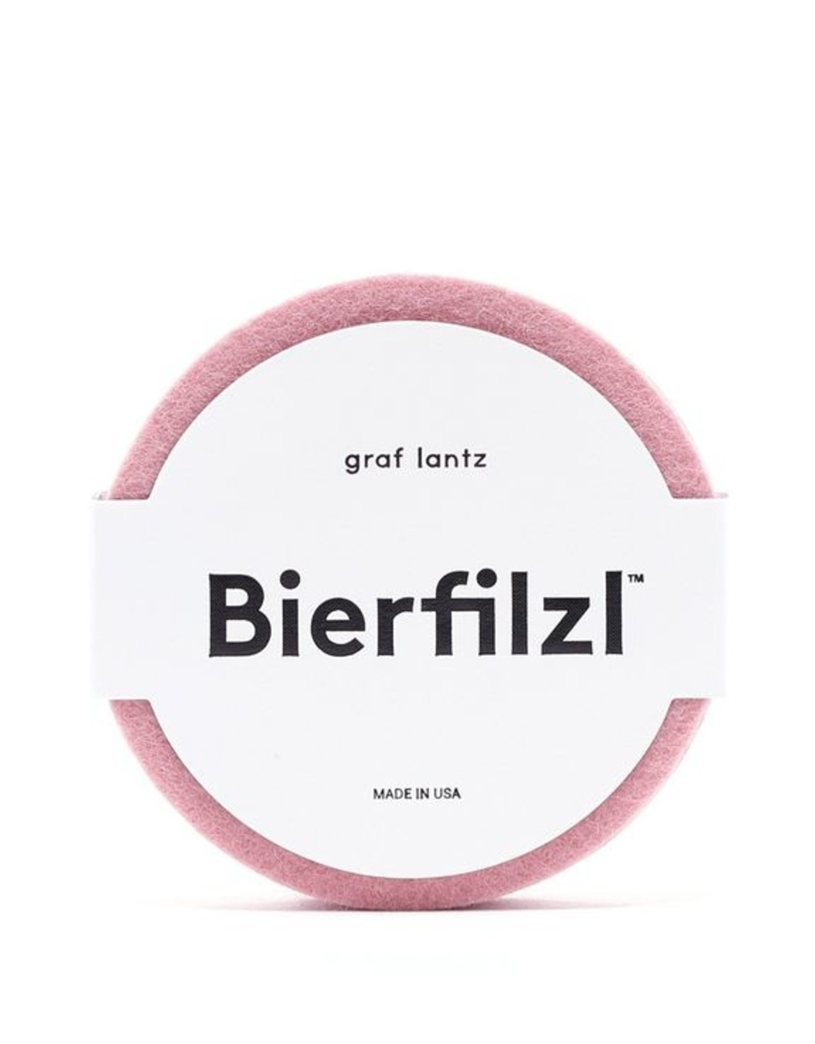 Graf&Lantz Bierfilzl Round Felt Coaster 4 Pack - Rouge