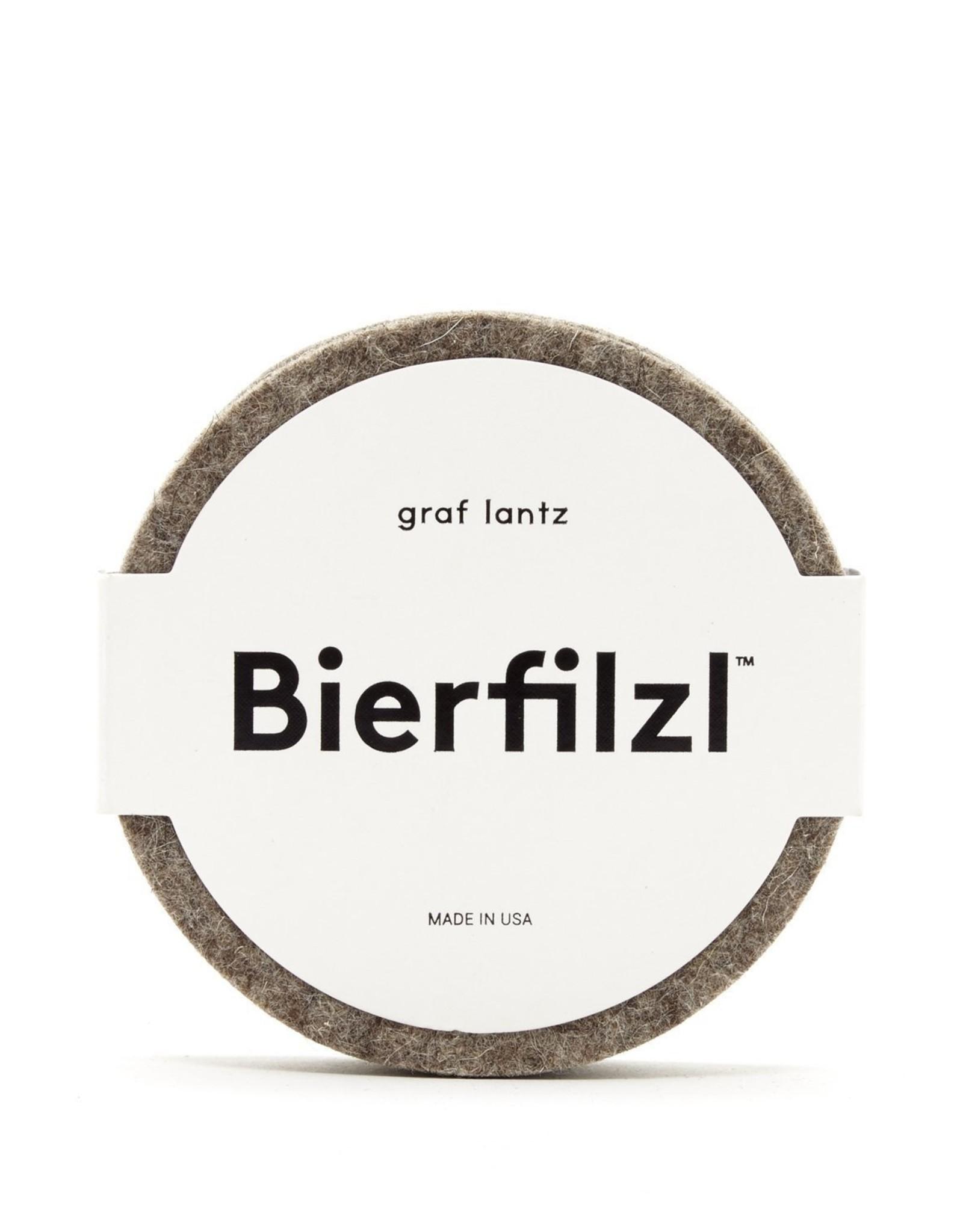 Graf&Lantz Bierfilzl Round Felt Coaster 4 Pack - Earth