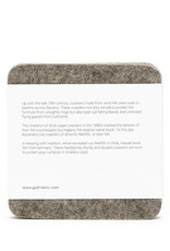 Graf&Lantz Bierfilzl Square Felt Coaster 4 Pack - Flame