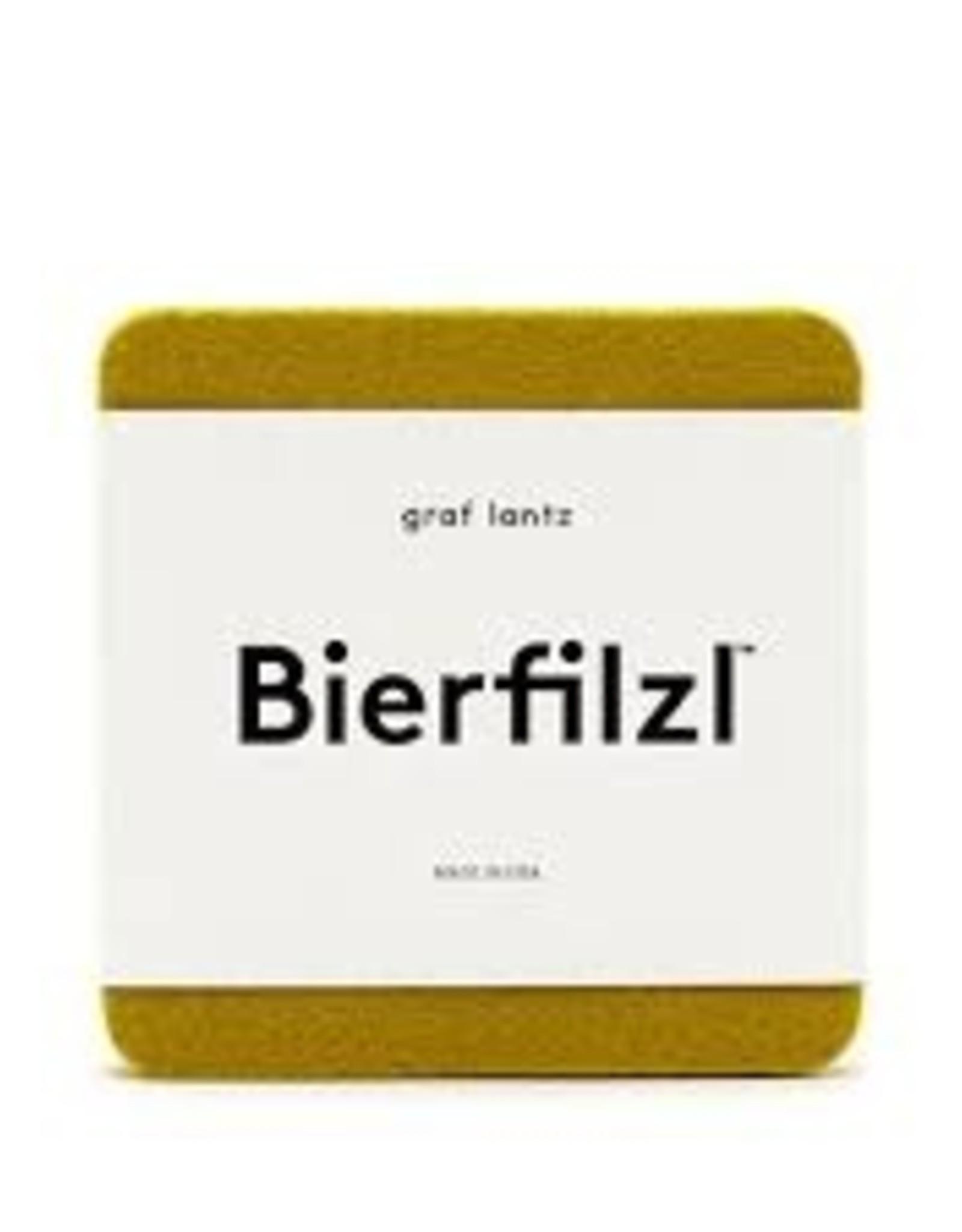 Graf&Lantz Bierfilzl Square Felt Coaster 4 Pack - Electric