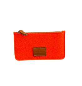 Graf&Lantz Graf Lantz Flat Felt Pouch - Petite - Orange