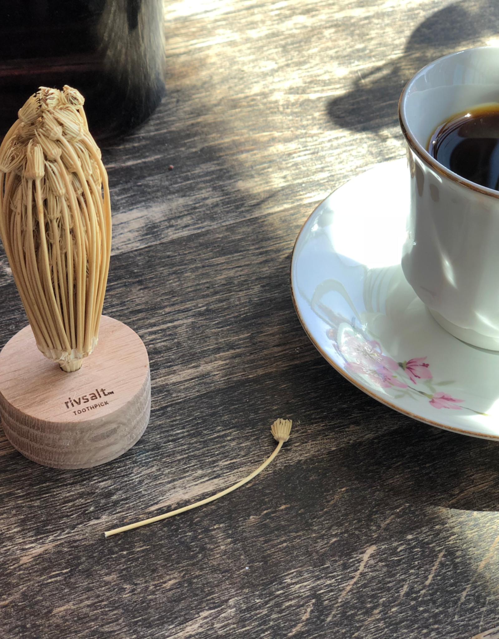 RIVSALT Natural Flower Toothpicks