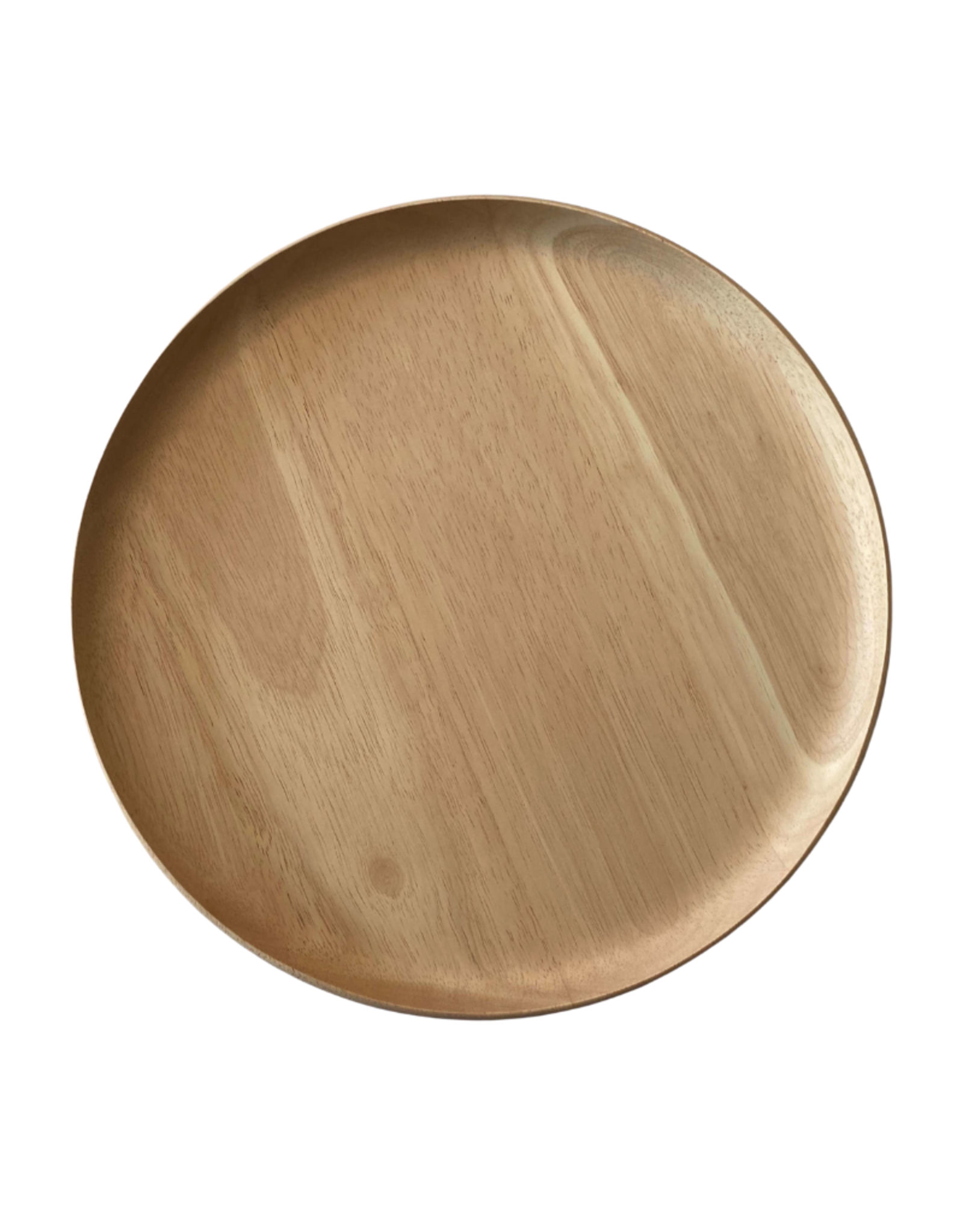 Yod Co Round Serving Tray Rubber Wood Perch