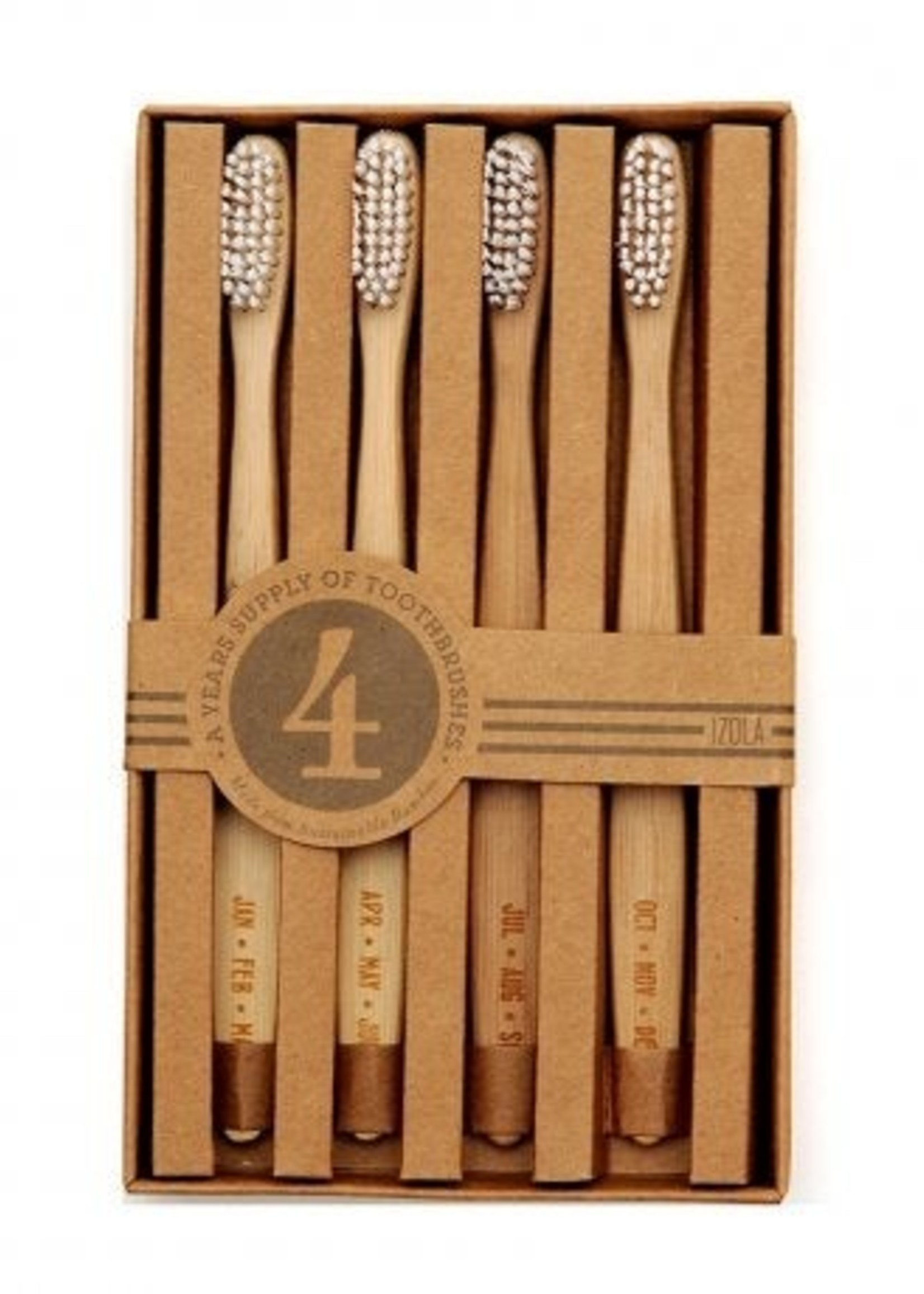 Izola Guest Toothbrushes - Set of 4