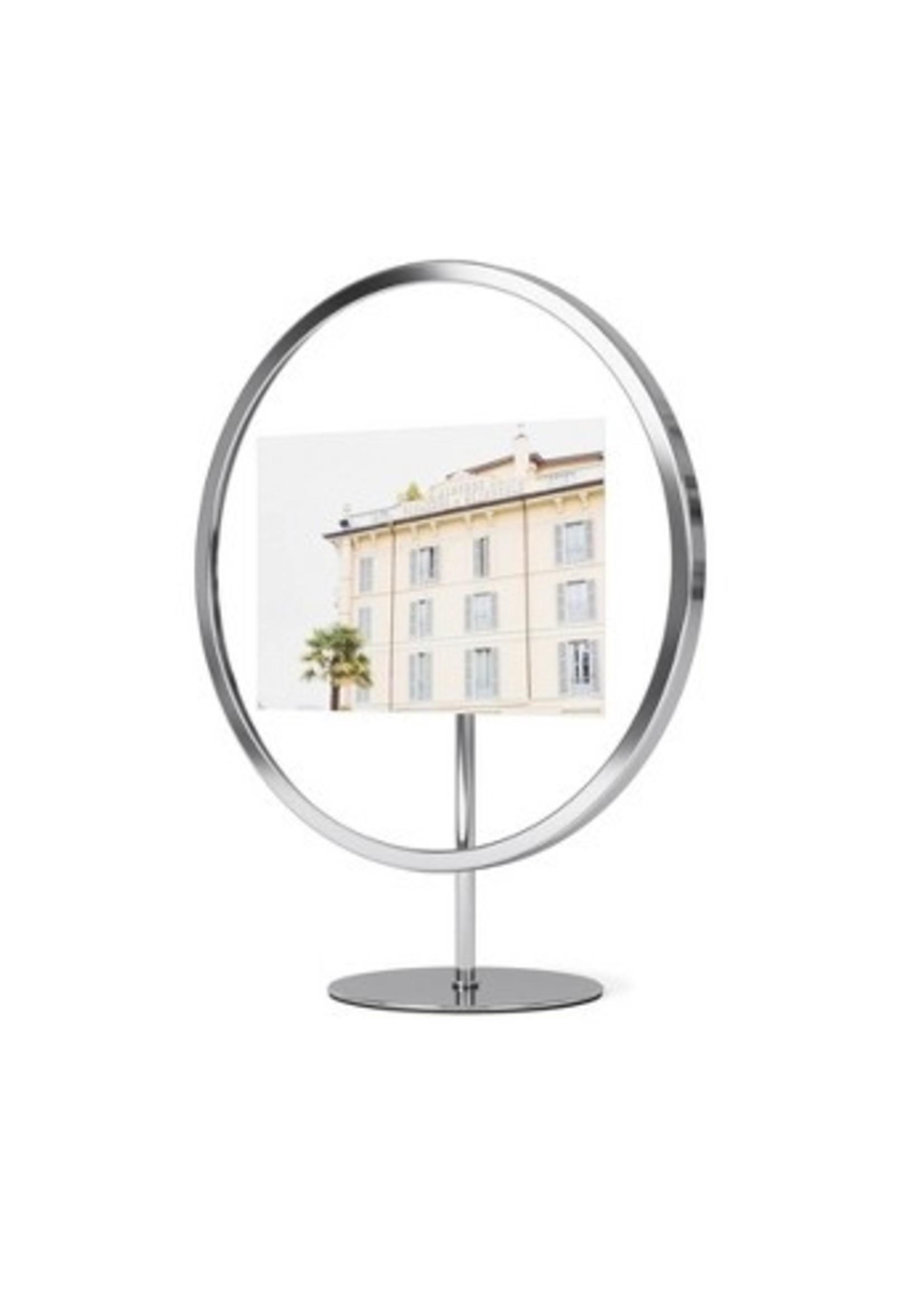 "Umbra Infinity Round Frame - Chrome - 4""x6"""