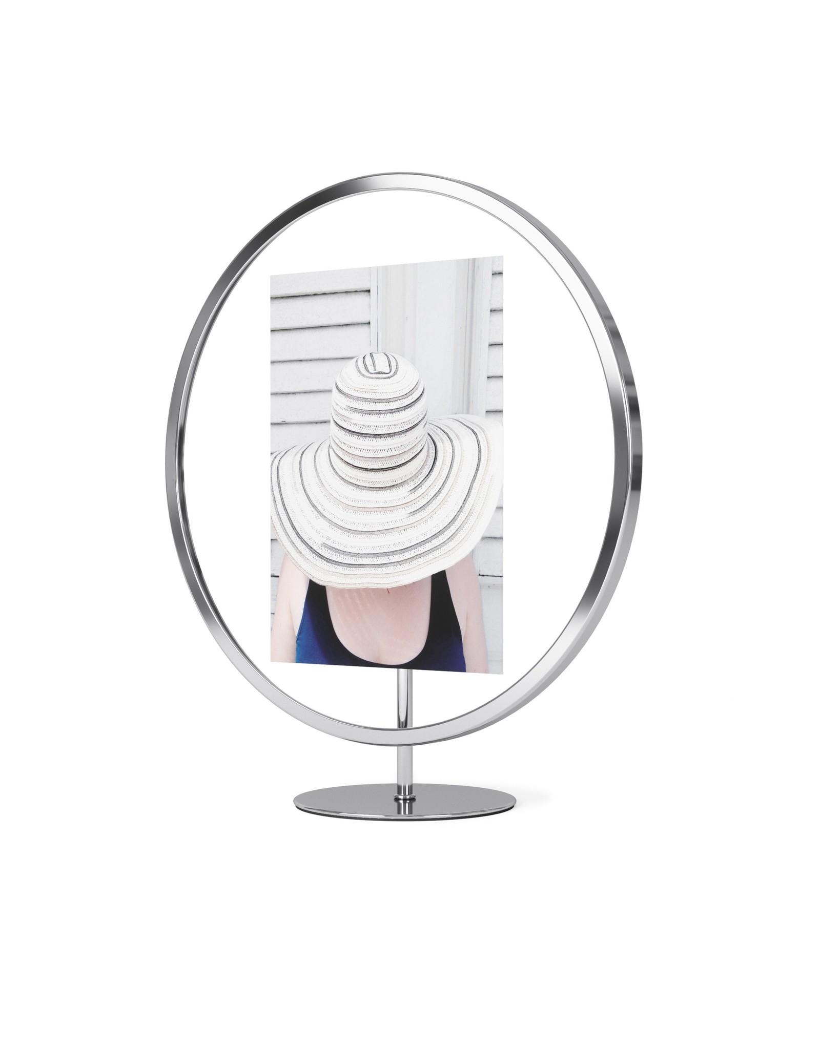 "Umbra Infinity Round Frame - Chrome - 5""x7"""