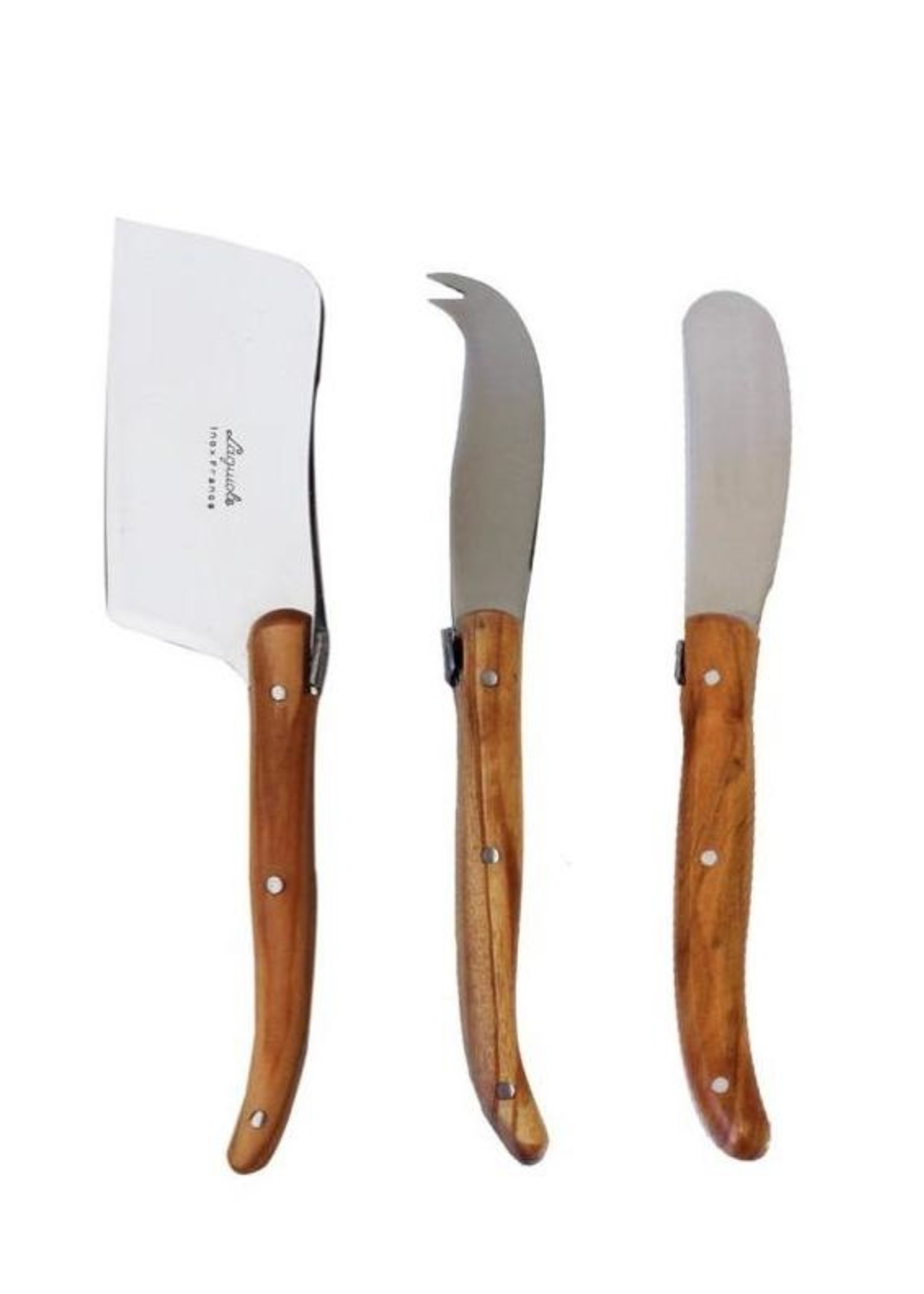 Kiss That Frog Cheese Knives - Olivewood