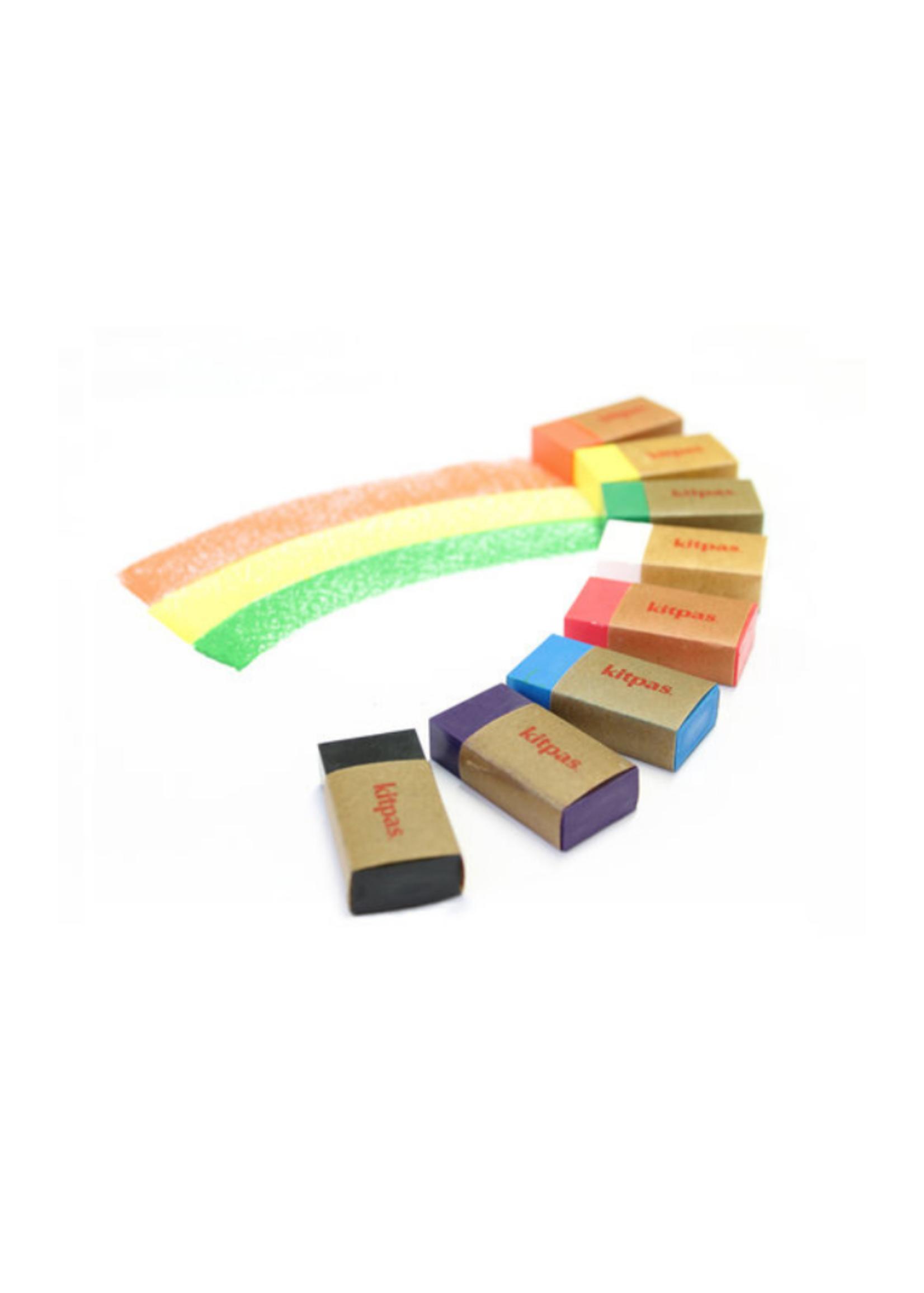 Kitpas Kitpas Art Crayons Block 8 Colors