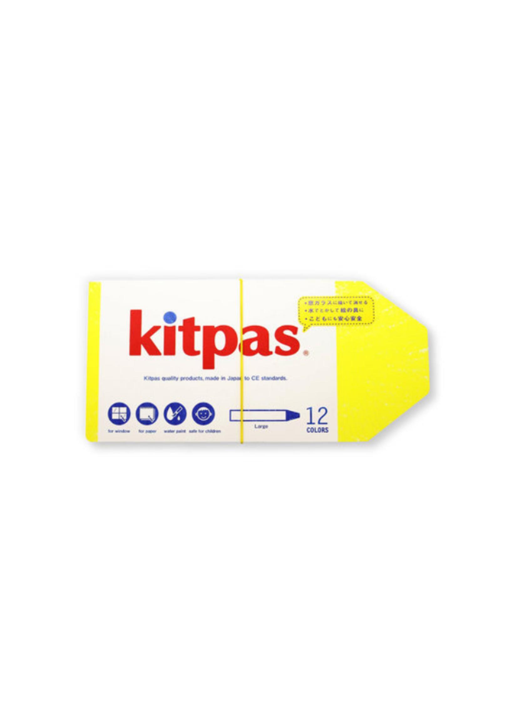 Kitpas Kitpas Art Crayons Large 12 Colors