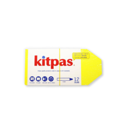 Kitpas Kitpas Art Crayons Large 12 Colors