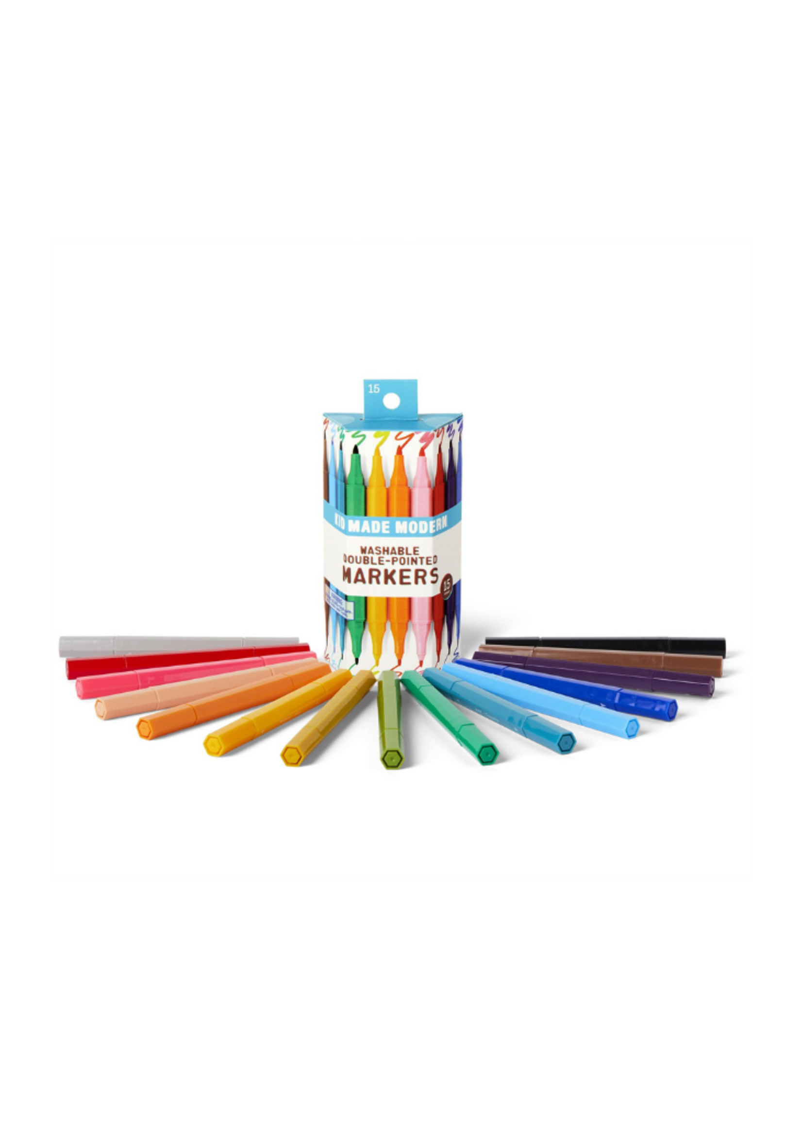 Kids Made Modern Kid Made Modern Double Pointed Washable Markers 15 Count