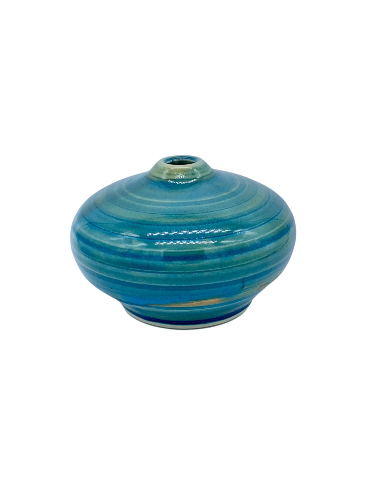 Richard Lau Pottery Persimmon Vase