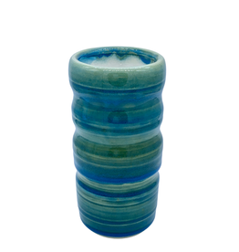 Richard Lau Pottery Richard Lau Pottery Blue Green Column Vase