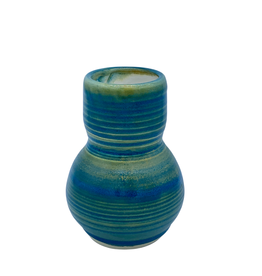 Richard Lau Pottery Richard Lau Pottery Blue Green Gourd Vase