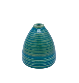 Richard Lau Pottery Richard Lau Pottery Blue Green Bud Vase