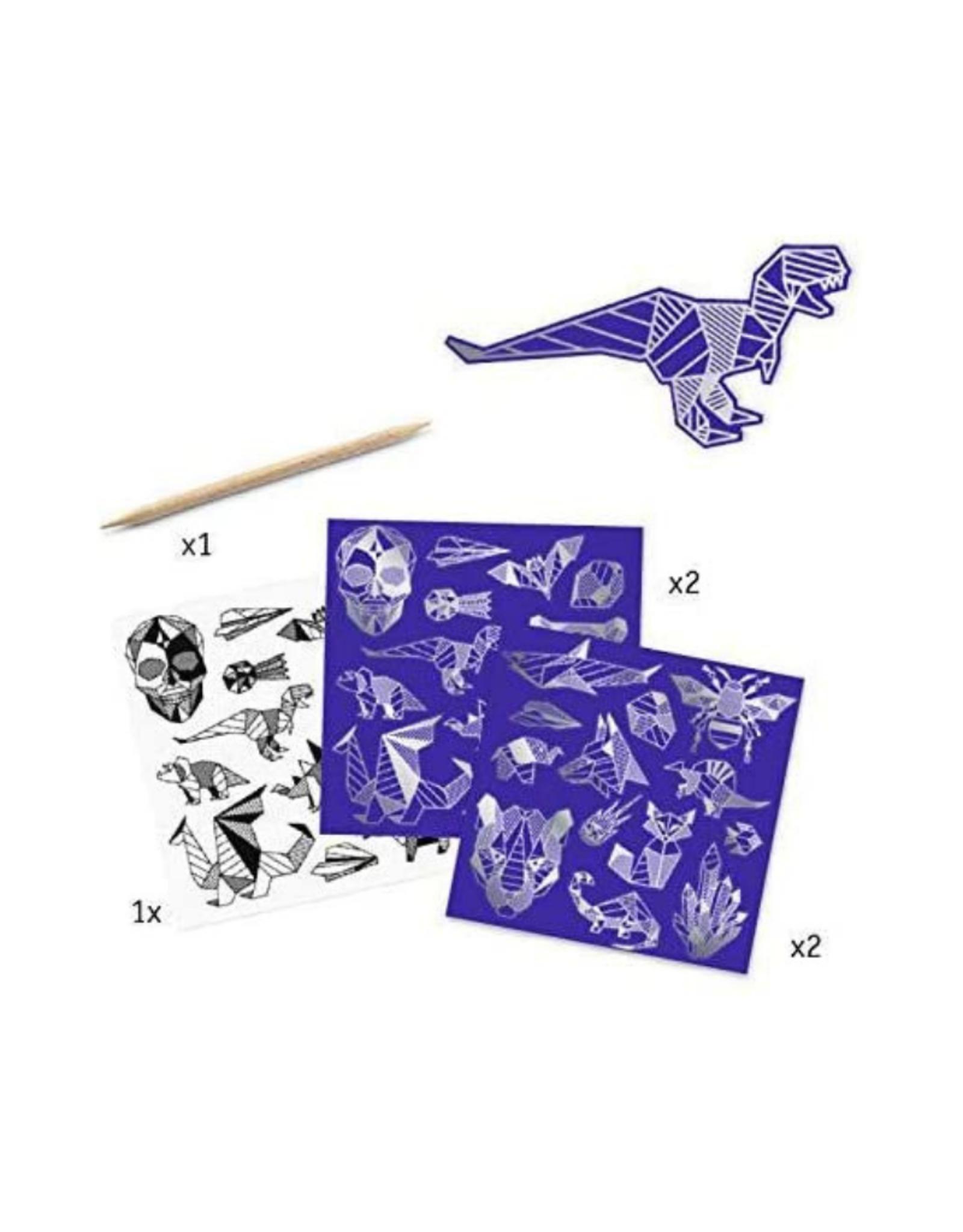 Djeco Djeco Iron Scratch Art Stickers