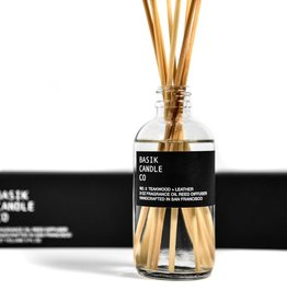Basik Candle Co. - No.3 Teakwood + Leather Reed Diffuser