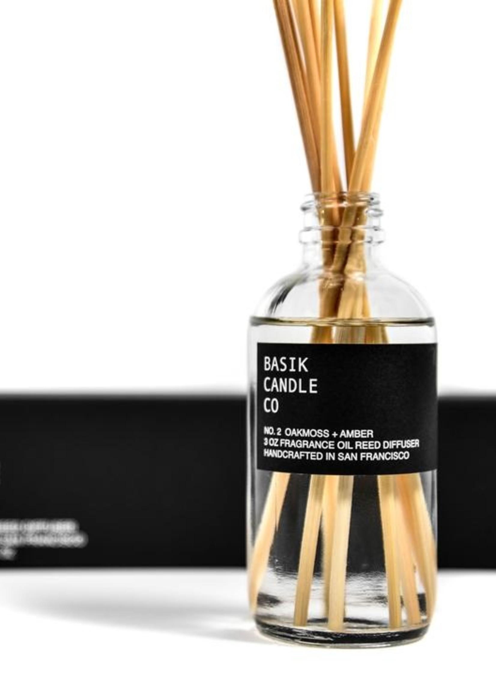 Basik Candle Co. No.2 Oakmoss & Amber Reed Diffuser