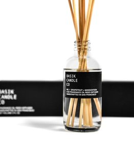 Basik Candle Co. - No.1 Grapefruit + Mangosteen Reed Diffuser