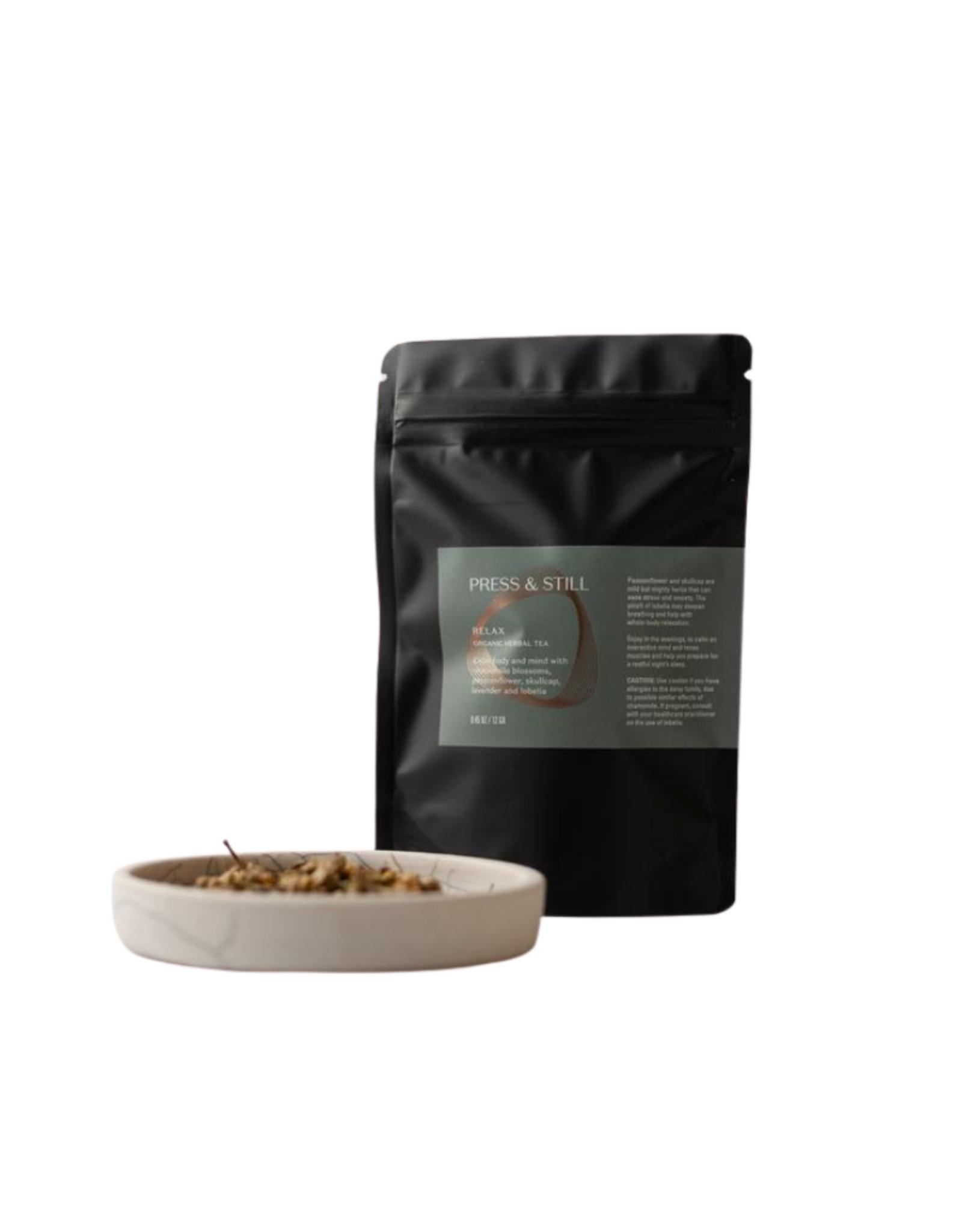Press & Still Relax Organic Herbal Tea