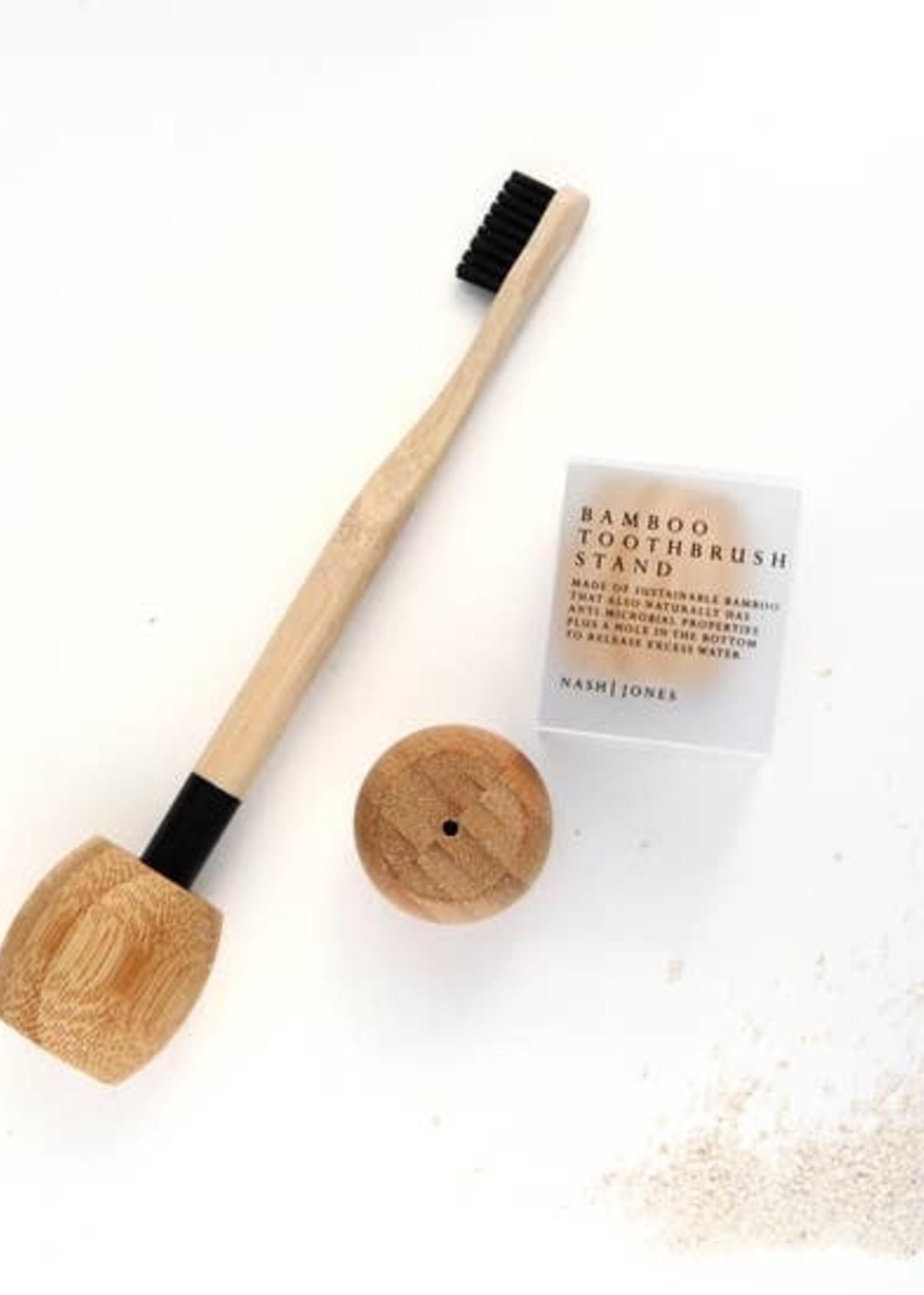 Nash Jones Bamboo Toothbrush Stand