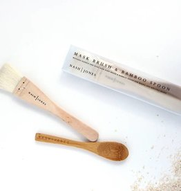 Nash Jones Nash Jones Mask Brush & Bamboo Spoon Set