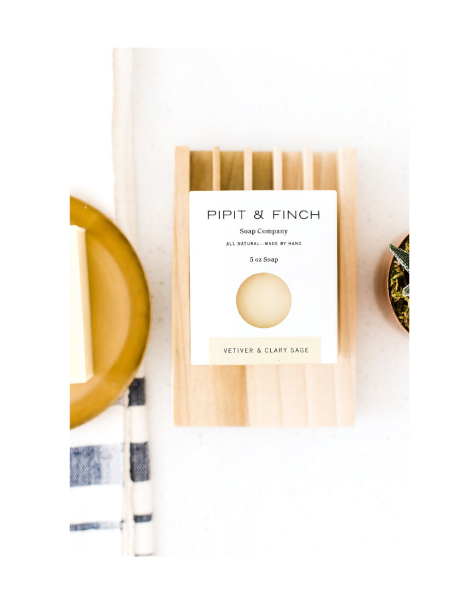 Pipit & Finch Pipit & Finch Vetiver & Clary Sage Soap Bar