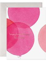 E. Frances Paper E. Frances - Birthday Card - Pink Balloons