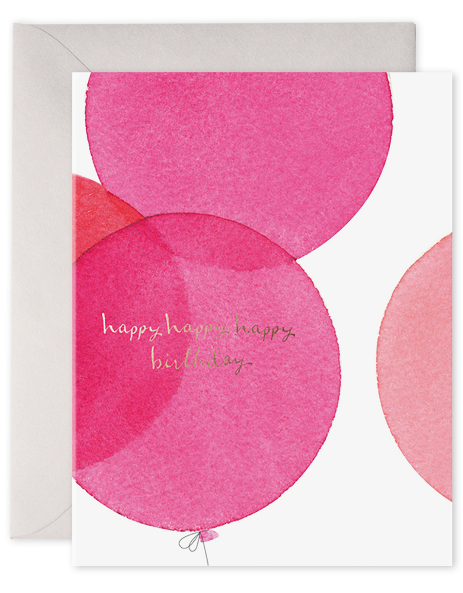 E. Frances Paper Birthday Card - Pink Balloons