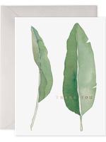 E. Frances Paper E . Frances - Thank You Card - Leaves