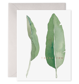 E. Frances Paper E . Frances - Thank You Card - Leaves